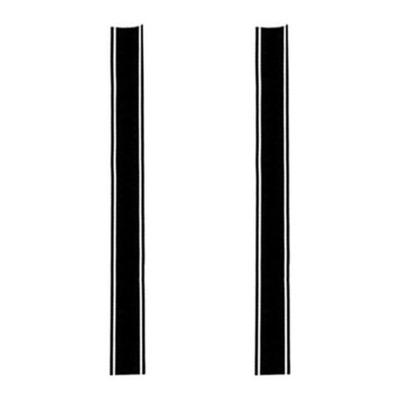 Autocollants Brazoline bandes triples noirs