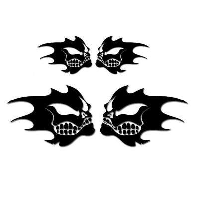 Autocollants Diabolik noir x4 15cm