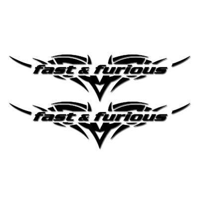 Autocollants Fast & furious noir x2 12cm