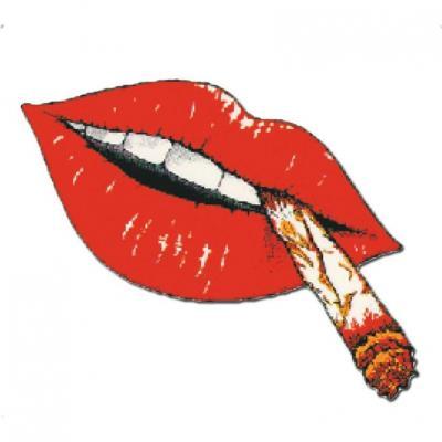 Autocollants lèvres avec fumée 10x12