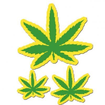 Autocollants Marijuana 10x12