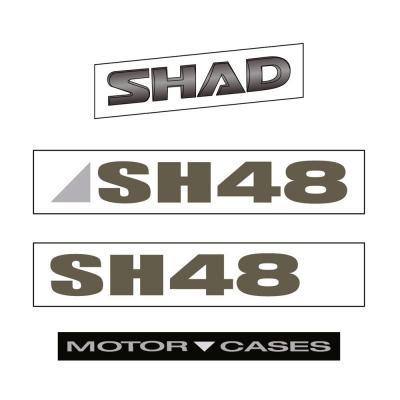 Autocollants Shad pour top case Shad SH48 gris foncé