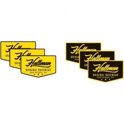 Autocollants Thor Hallman noir/jaune (lot de 6 pièces)