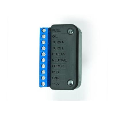 Barrette de connexion entre faisceau et compteur Motogadget Motoscope Pro Box A pour voyants témoins