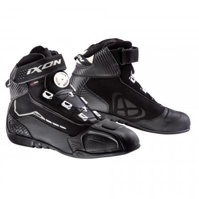 Baskets mixtes moto Ixon Soldier Evo noir/blanc