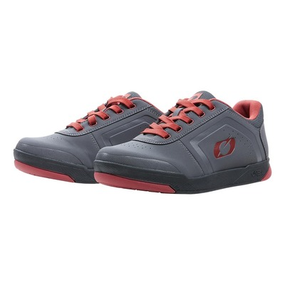 Baskets vélo O'Neal Pinned Flat pedal V.22 gris/rouge