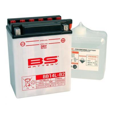 Batterie BS Battery BB14L-A2 12V 14,7Ah conventionnelle avec pack acide