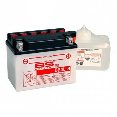 Batterie BS Battery BB4L-B 12V 4,2Ah conventionnelle avec pack acide