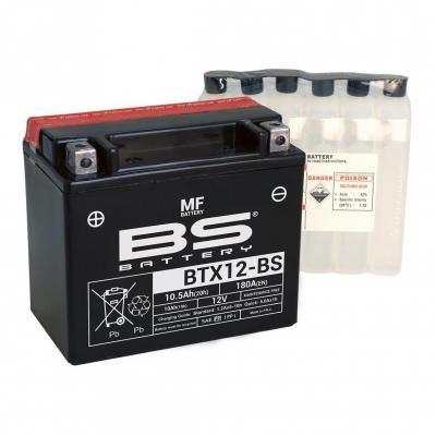Batterie BS Battery BTX12-BS 12V 10,5Ah MF avec pack acide