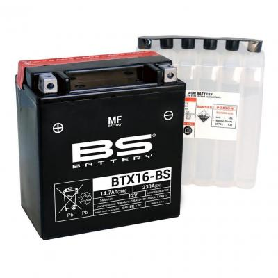 Batterie BS Battery BTX16-BS 12V 14,7Ah MF avec pack acide