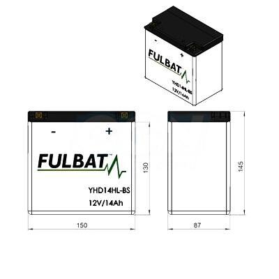 Batterie Fulbat FHD14HL-BS 12V 14Ah