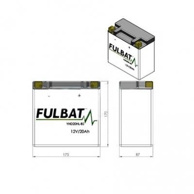 Batterie Fulbat FHD20HL-BS 12V 20Ah