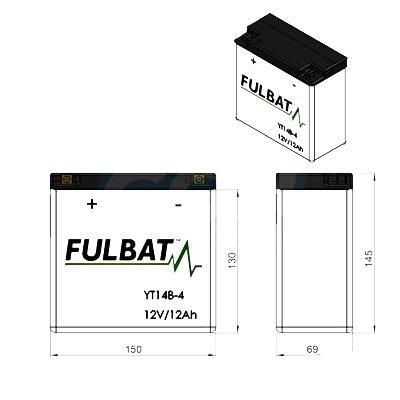 Batterie Fulbat FT14B-4 12V 12Ah