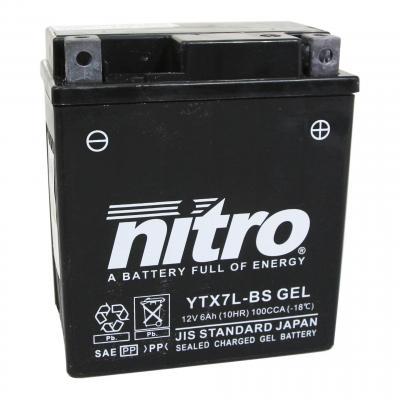 Batterie Nitro 12V 6Ah YTX7L-BS Gel
