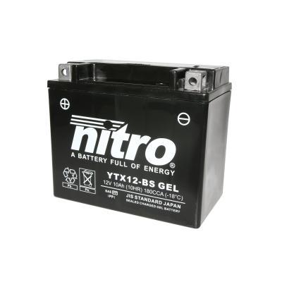 Batterie Nitro YTX12-BS 12V 10 Ah Gel