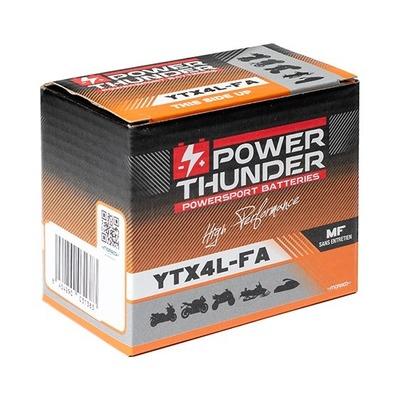 Batterie Power Thunder YTX4L-FA 12V 3 Ah prête à l'emploi