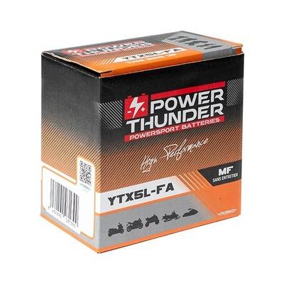 Batterie Power Thunder YTX5L-FA 12V 4 Ah prête à l'emploi