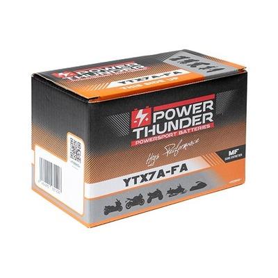 Batterie Power Thunder YTX7-FA 12V 6 Ah prête à l'emploi