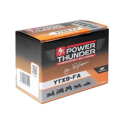 Batterie Power Thunder YTX9-FA 12V 8 Ah prête à l'emploi