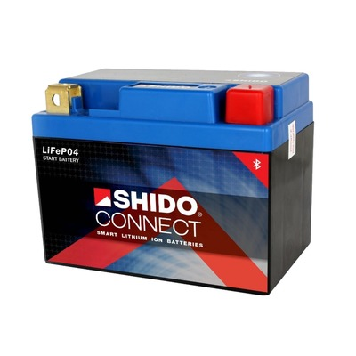 Batterie Shido LTX14-BS Lithium 12V 4A connectée