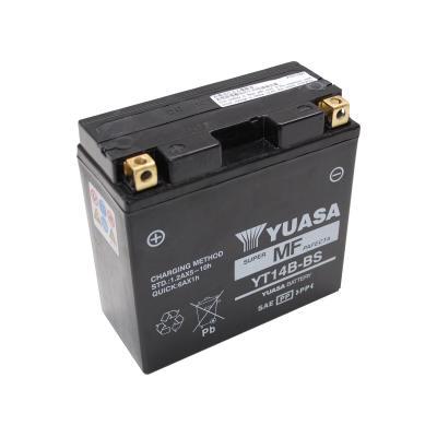 Batterie Yuasa 12V 12Ah YT14B-BS sans entretien prêt à l'emploi