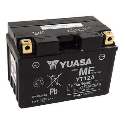 Batterie Yuasa YT12A-BS - SLA AGM12V 10,5 Ah prête à l'emploi