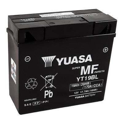 Batterie Yuasa YT19BL-BS - SLA AGM12V 19 Ah prête à l'emploi