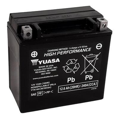 Batterie Yuasa YTX14H-BS - SLA AGM12V 12,6 Ah prête à l'emploi
