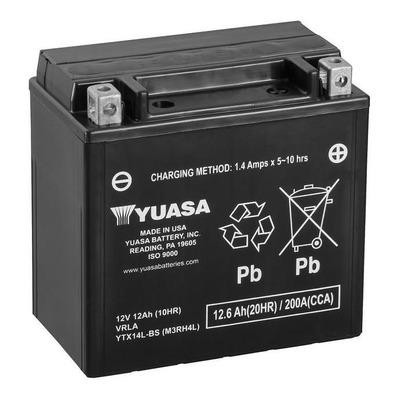 Batterie Yuasa YTX14L 12V 12Ah prête à l'emploi
