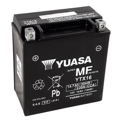 Batterie Yuasa YTX16-BS - SLA AGM12V 14,7 Ah prête à l'emploi
