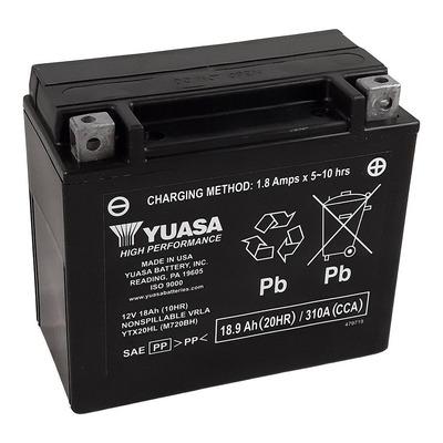 Batterie Yuasa YTX20HL-BS - SLA AGM12V 18,9 Ah prête à l'emploi