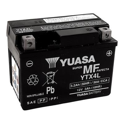 Batterie Yuasa YTX4L-BS - SLA AGM12V 3,4 Ah prête à l'emploi