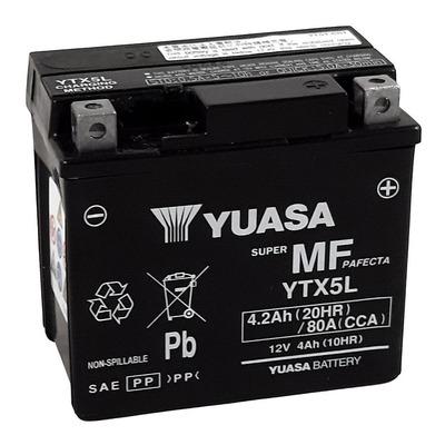 Batterie Yuasa YTX5L-BS - SLA AGM12V 4,2 Ah prête à l'emploi