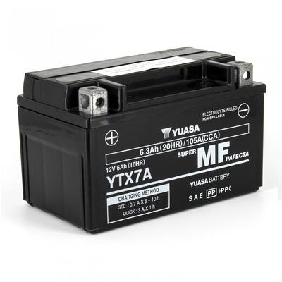 Batterie Yuasa YTX7A-BS 12V 6 Ah prête à l'emploi
