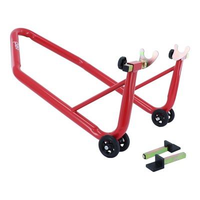 Béquille de stand monobloc lève moto arrière universel rouge