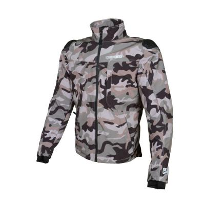 Blouson Booster Basano softshell camouflage gris