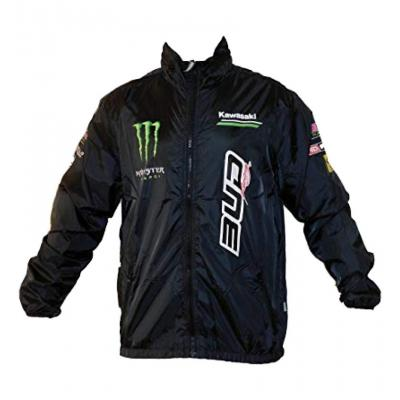 Blouson coupe vent staff Bud Racing Monster Kawasaki noir/vert