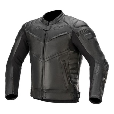 Blouson cuir Alpinestars AS-DSL Shiro Diesel noir