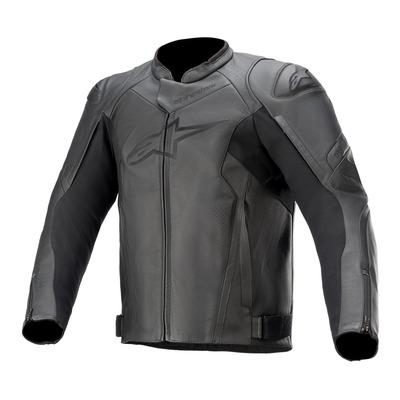 Blouson cuir Alpinestars Faster V2 noir/noir