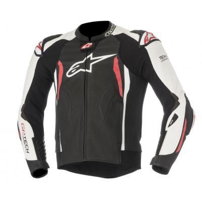 Blouson cuir Alpinestars GP Tech V2 noir/blanc/rouge