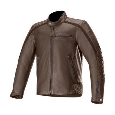 Blouson cuir Alpinestars Hoxton V2 marron