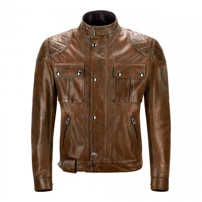 Blouson cuir Belstaff Brooklands Burnt Cuero marron