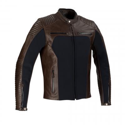 Blouson cuir Bering Rex noir/marron
