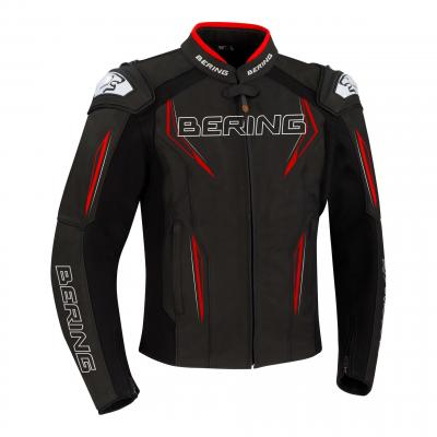 Blouson cuir Bering Sprint-R noir/rouge