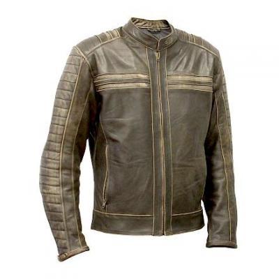 Blouson cuir femme Archive Classic brun