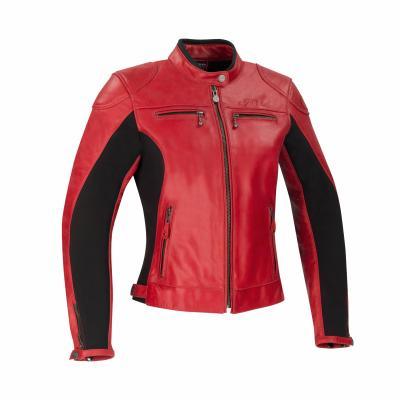 Blouson cuir femme Segura Lady Kroft rouge/noir