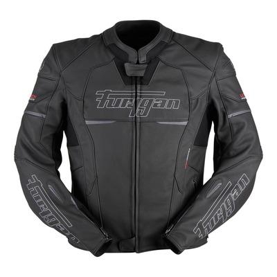 Blouson cuir Furygan Nitros noir/blanc (compatible airbag Furygan)