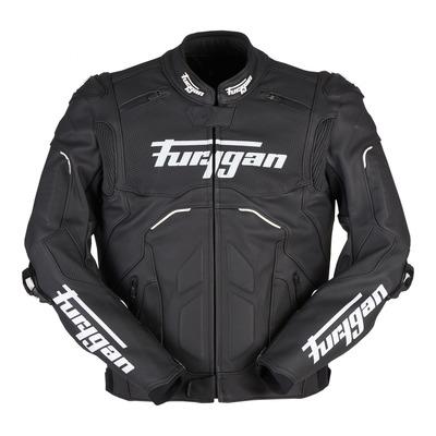 Blouson cuir Furygan Raptor Evo 2 noir/blanc (compatible airbag Furygan)