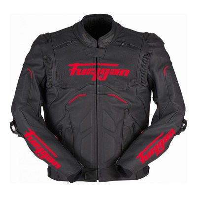 Blouson cuir Furygan Raptor Evo 2 noir/rouge (compatible airbag Furygan)