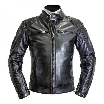 Blouson cuir Helstons Modelo noir/noir